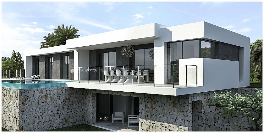 Proyecto casa moderna. Benitachell