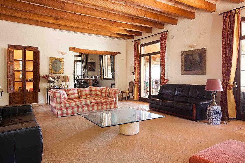 Salón de relax en villa rústica de lujo. Benissa