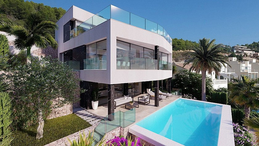 PROJECT VILLA WITH THREE BEDROOMS IN CALPE