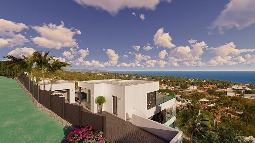 Vista superior villa de lujo en Calpe.
