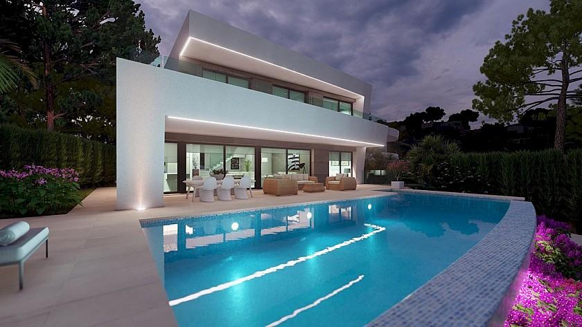 Villa moderna con cuatro habitaciones en Moraira