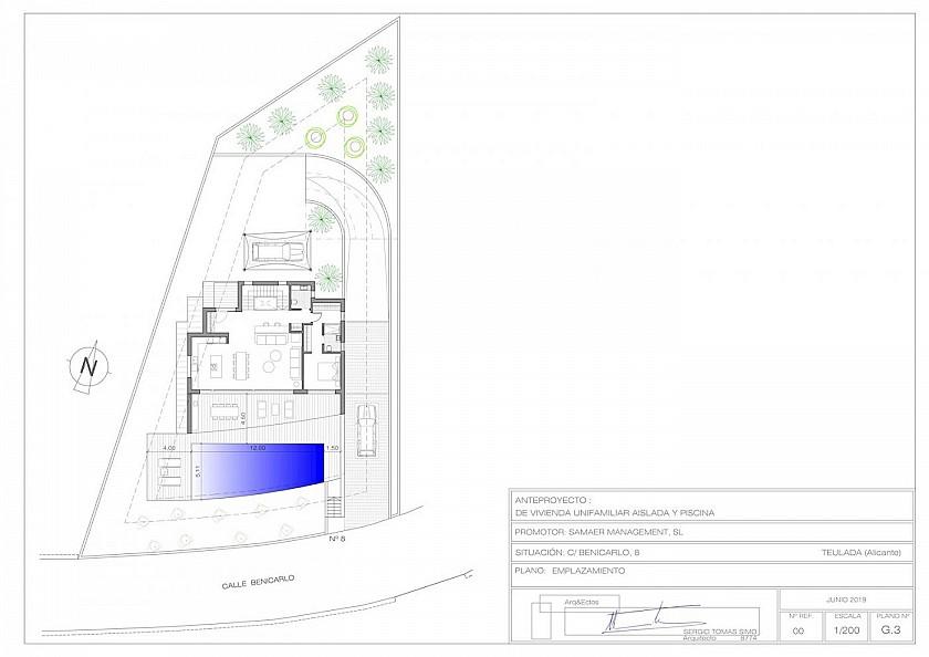 Plano general villa de lujo en Moraira