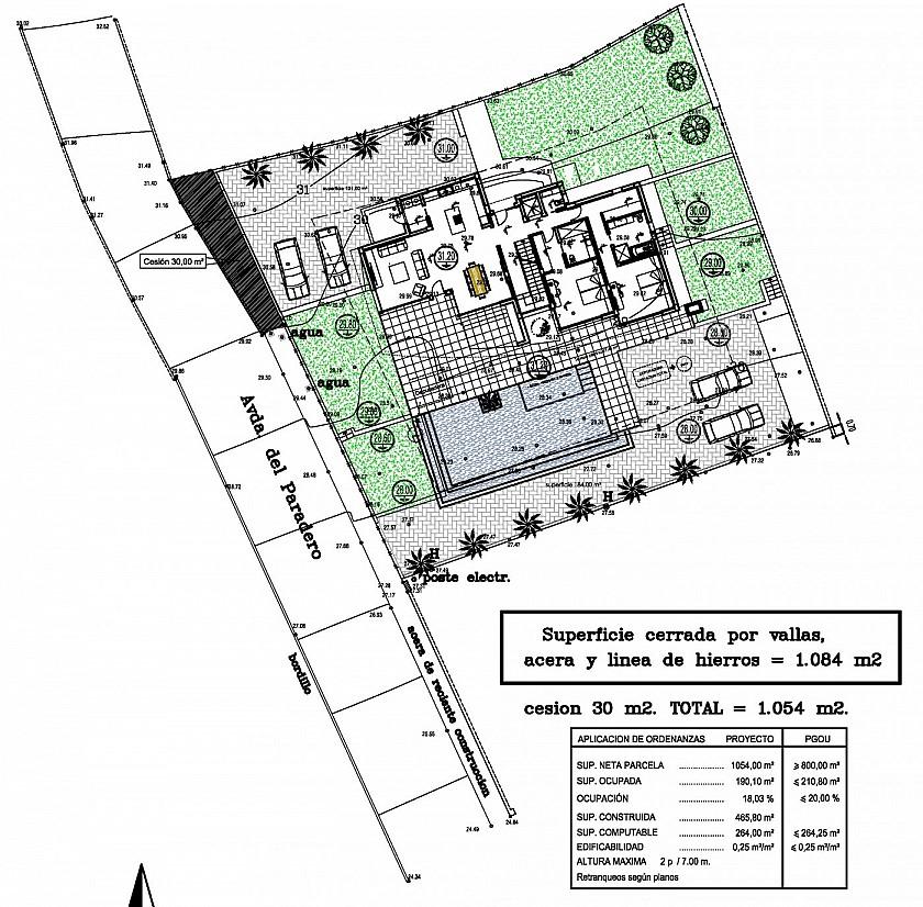 Plano parcela villa de lujo en Benissa