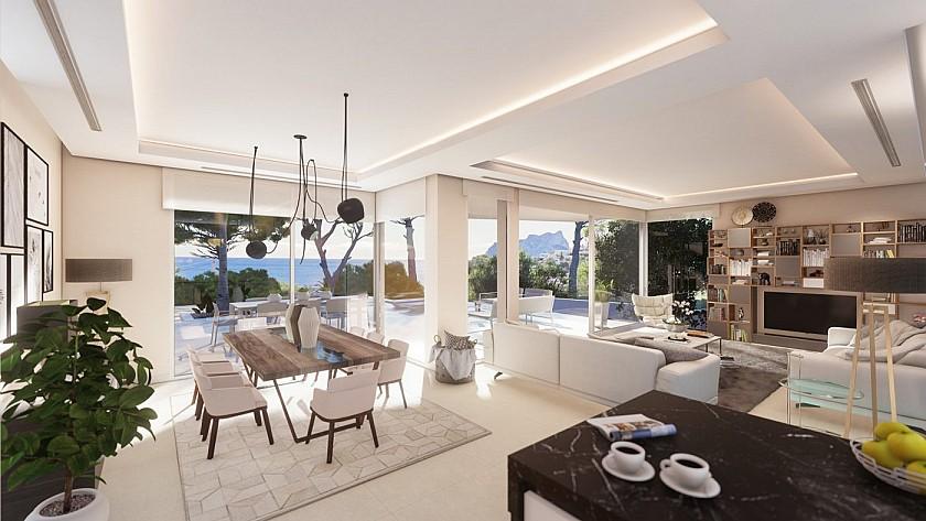 Espacioso salón de lujo con salida a la terraza en Benissa