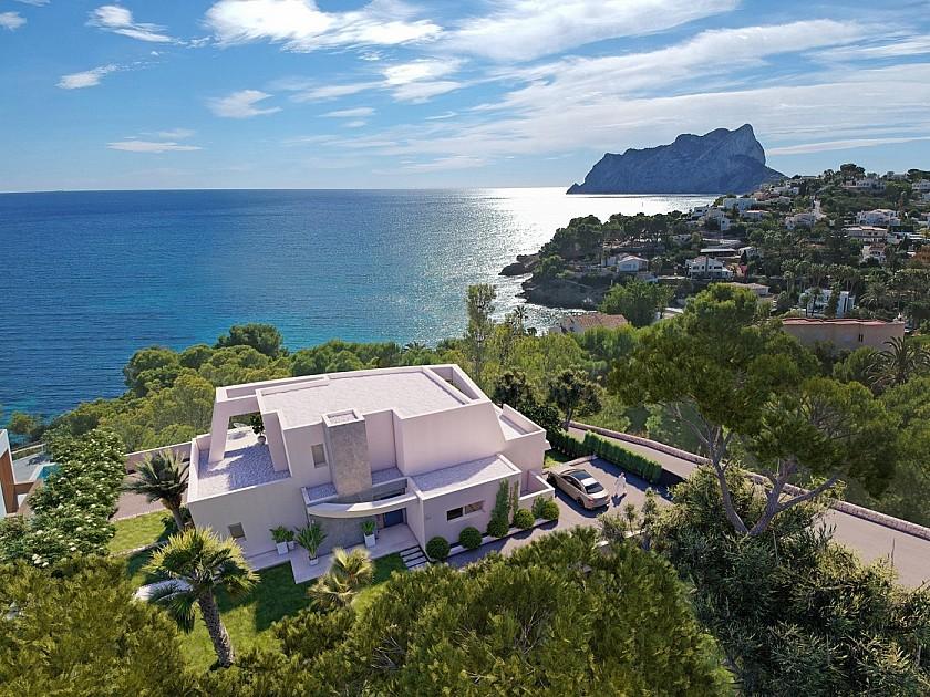 Vistas al mar mediterráneo desde villa de lujo en Benissa