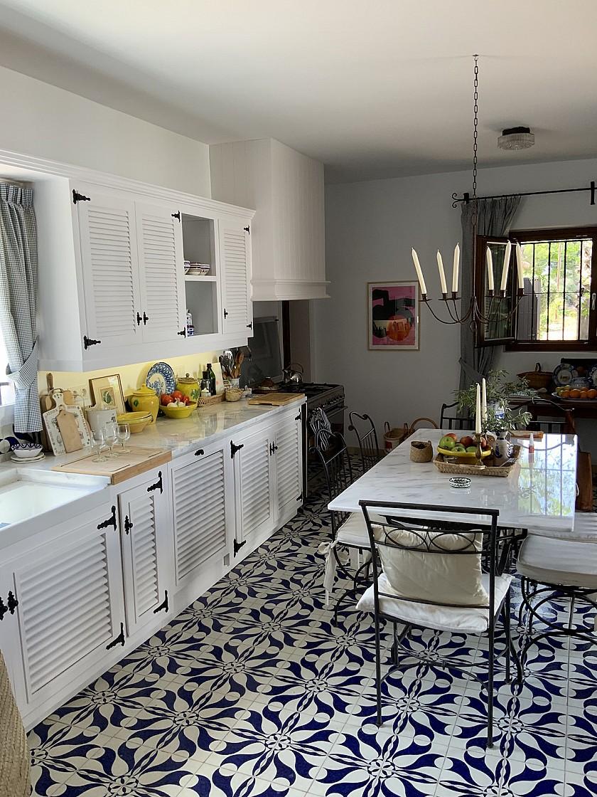 Gran cocina estilo rústico en Benissa.