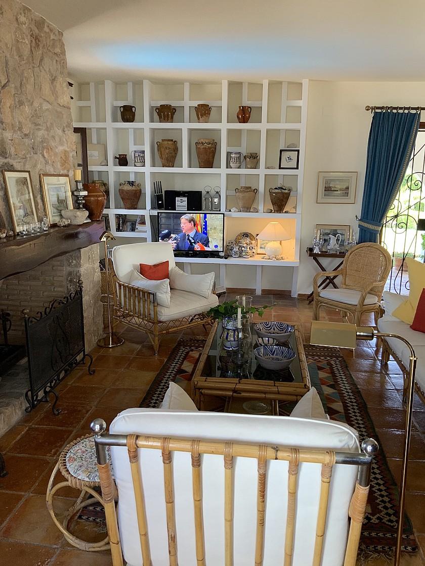 Acogedora sala de estar villa en Benissa.