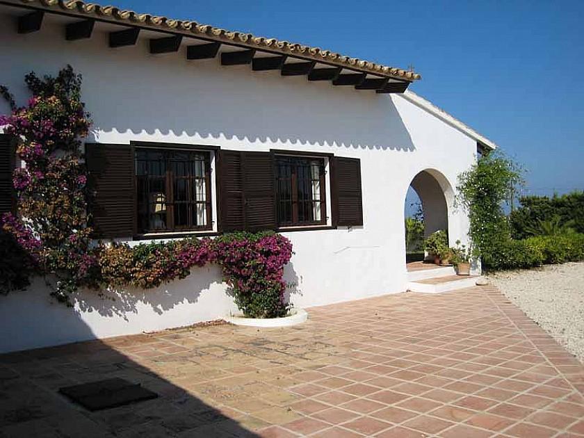 Terraza acogedora villa rústica en Benissa